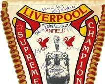 Liverpool F C commemorative pennant Supreme Champions