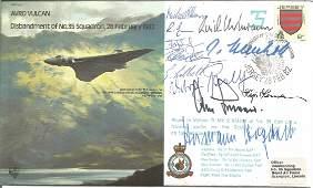 WW2 Luftwaffe ace multiple signed 1982 Avro Vulcan