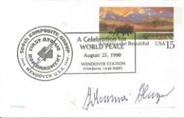 WW2 Luftwaffe ace Johannes Hager signed US postcard.
