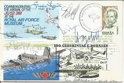 WW2 Luftwaffe BOB and US aces multiple signed RAF