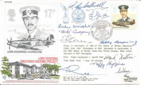 WW2 Battle of Britain pilots multiple signed Lord