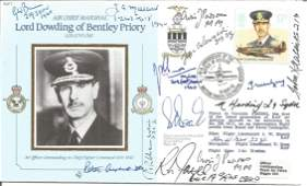 WW2 Battle of Britain pilots multiple signed MRAF Lord