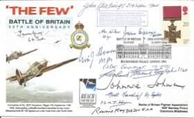 WW2 Battle of Britain pilots multiple signed 50th ann