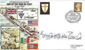 WW2 Luftwaffe ace Osbst Reinert KC signed 50th ann End