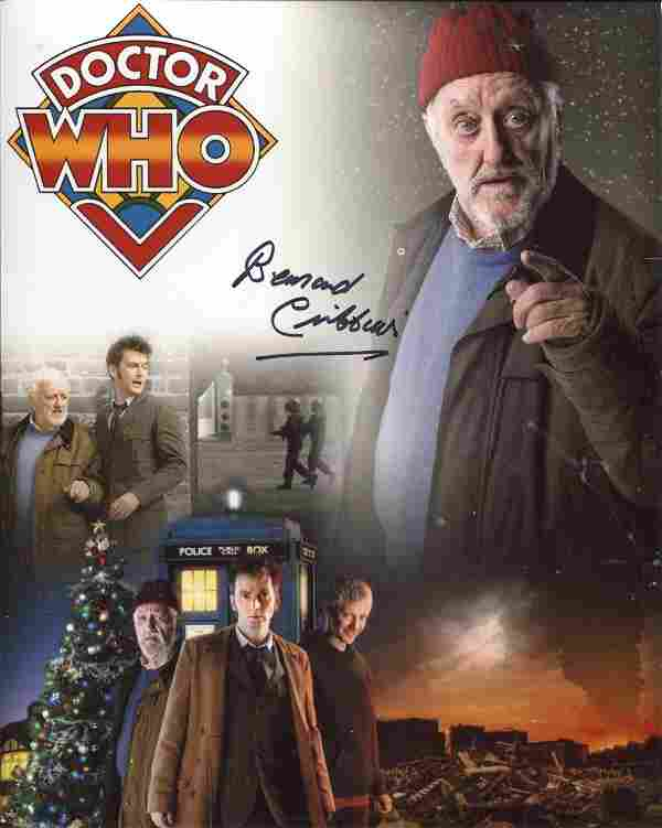 Doctor Who 8x10 montage photo signed by actor Bernard