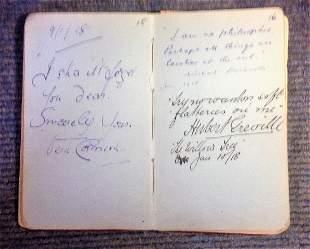 Vintage 1910-1940s Autograph Book Entertainment and