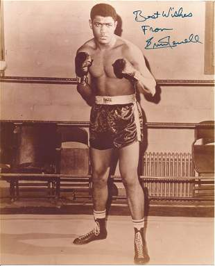 Boxing Ernie Terrell signed 10x8 black and white