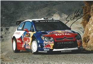 Motor Racing Sébastien Loeb signed colour photo.