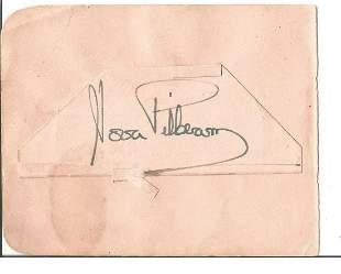 Nora Pilbeam signed 5x4 signed album. Good Condition.