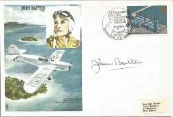 Jean Batten signed Jean Batten CBE FDC No. 410 of 1250.