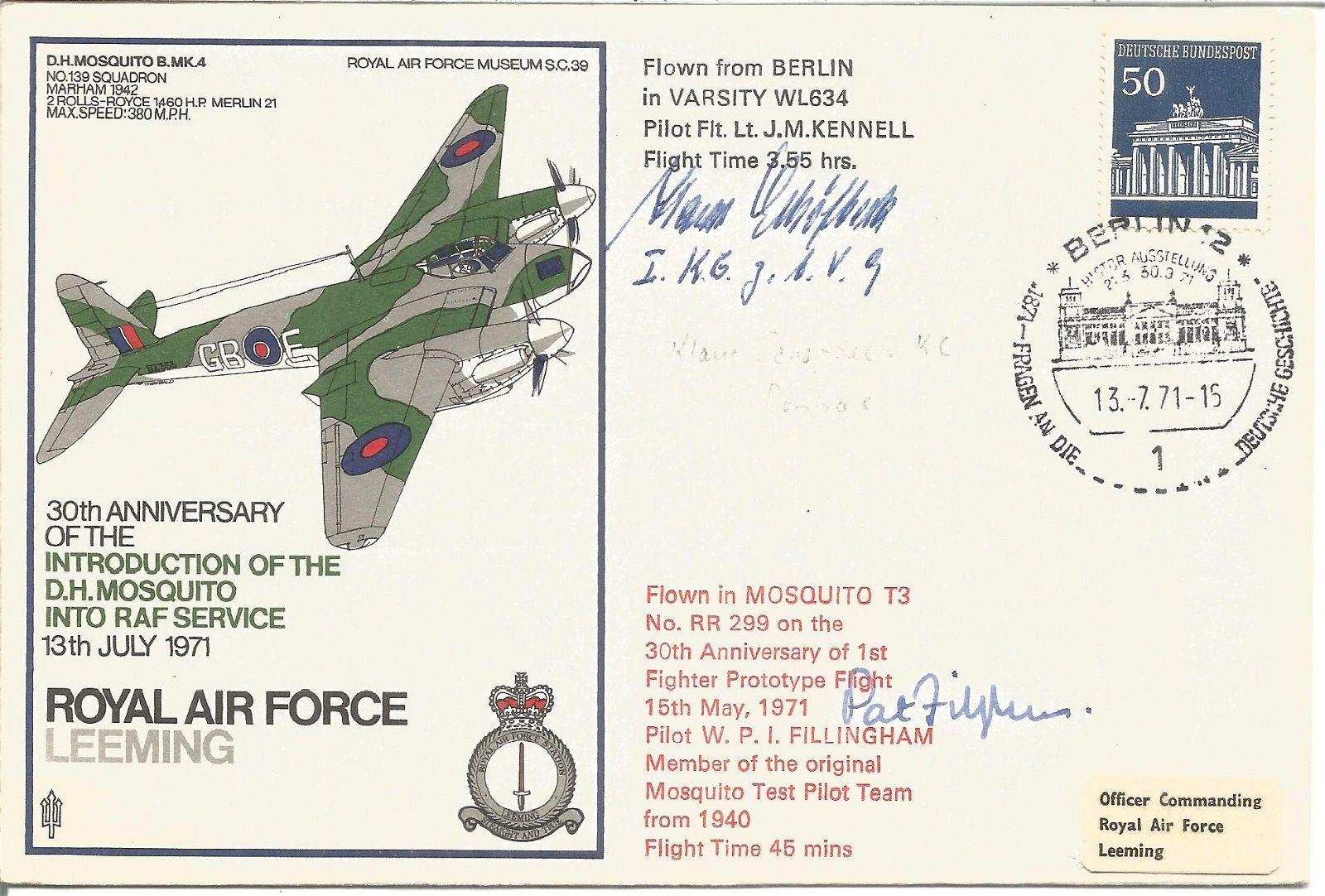 Klaus Sehotbeck KC and Pat Fillingham signed RAF