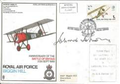 Top WW2 fighter ace AVM Johnnie Johnson DSO DFC signed