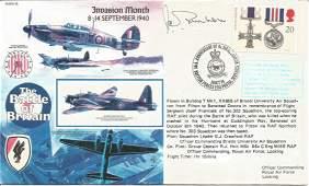 WW2 BOB fighter ace Wg Cdr John C. Freeborn DFC* signed