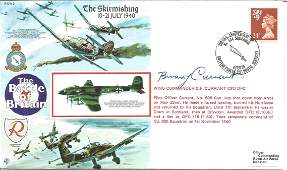 WW2 BOB fighter ace Wg Cdr C F Currant DSO DFC signed