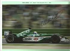 Mark Webber signed 12x8 colour action photo. Good