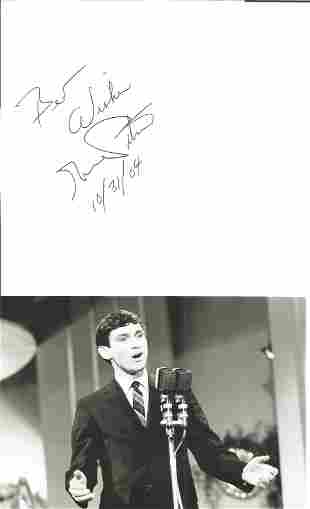 Gene Pitney (1940-2006) Singer Signed Page With Photo.