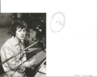 Steve Winwood Singer Signed Page With Photo. Condition