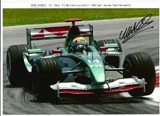 Mark Webber signed 12x8 colour racing photo. Good