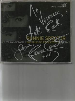 Ronnie Spector signed limited edition CD. Good