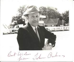 John Oakes signed 6x4 black and white photo. Good