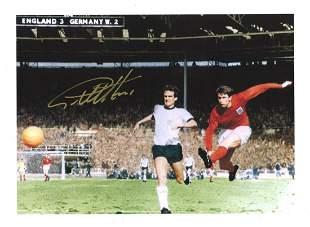Geoff Hurst Signed England 1966 World Cup Final 12x16