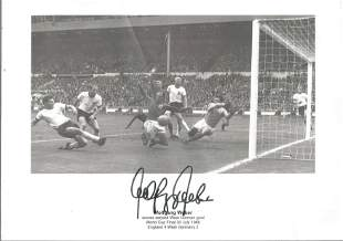 Wolfgang Weber Signed West Germany 1966 World Cup Final