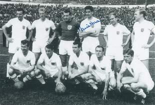 Autographed England 12 X 8 Photo - Maurice Norman :