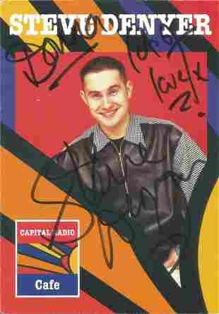 Steve Denyer signed 6x4 colour Capital Radio promo