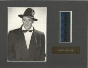 John Wayne UNSIGNED black and white photo mounted