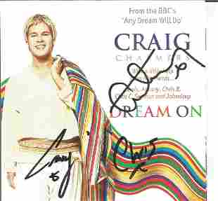 Craig Chalmers signed CD insert for Dream On. CD