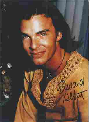 Edward Albert signed 12x8 colour photo. Good Condition.