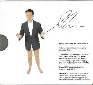 Jimmy Carr signed audio cd slipcase. CD included. Good