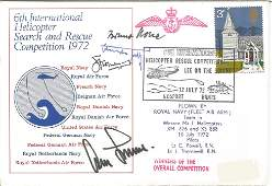 WW2 Luftwaffe aces multiple signed 1972 Helicopter
