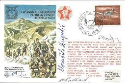 WW2 multiple signed cover Escape From Yugoslavia Royal
