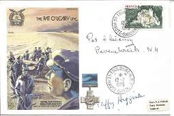 The Pat OLeary Line signed FDC No 505 of 1060 Flown