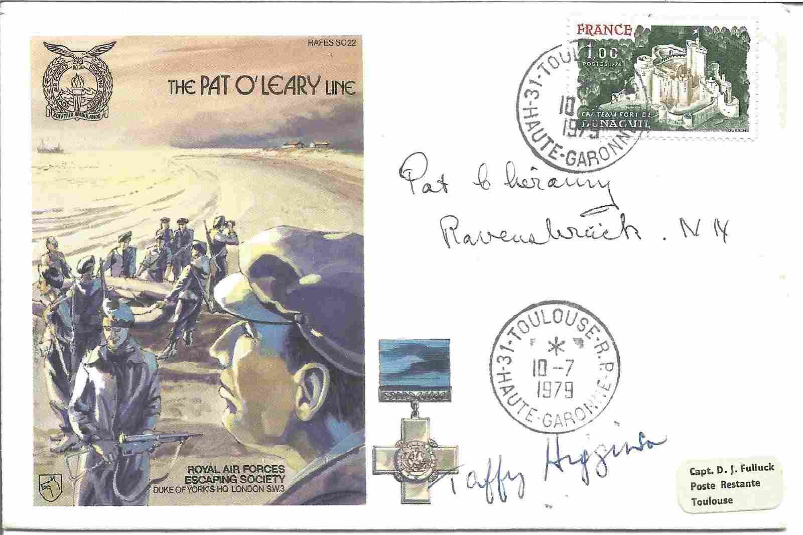 The Pat O'Leary Line signed FDC No 505 of 1060. Flown