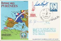 Multiple signed WW2 resistance cover. Royal Air Forces