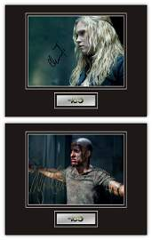 Set of 2 Stunning Displays! The 100 hand signed