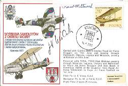 WW2 Luftwaffe and USA double signed cover Oberleutnant