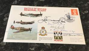 WW2 RAF Battle of Britain multi signed cover including