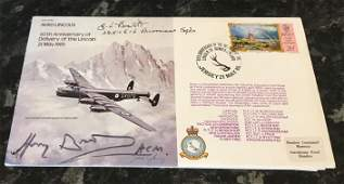 WW2 RAF Double Signed Air Chief Marshall Sir Harry