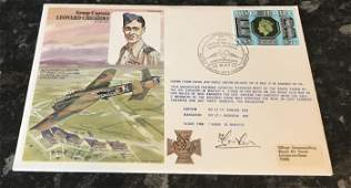 Flown and signed cover Group Captain Leonard Cheshire