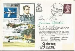 WW2 Fighter aces Alan Deere DSO DFC Mjr Hermann
