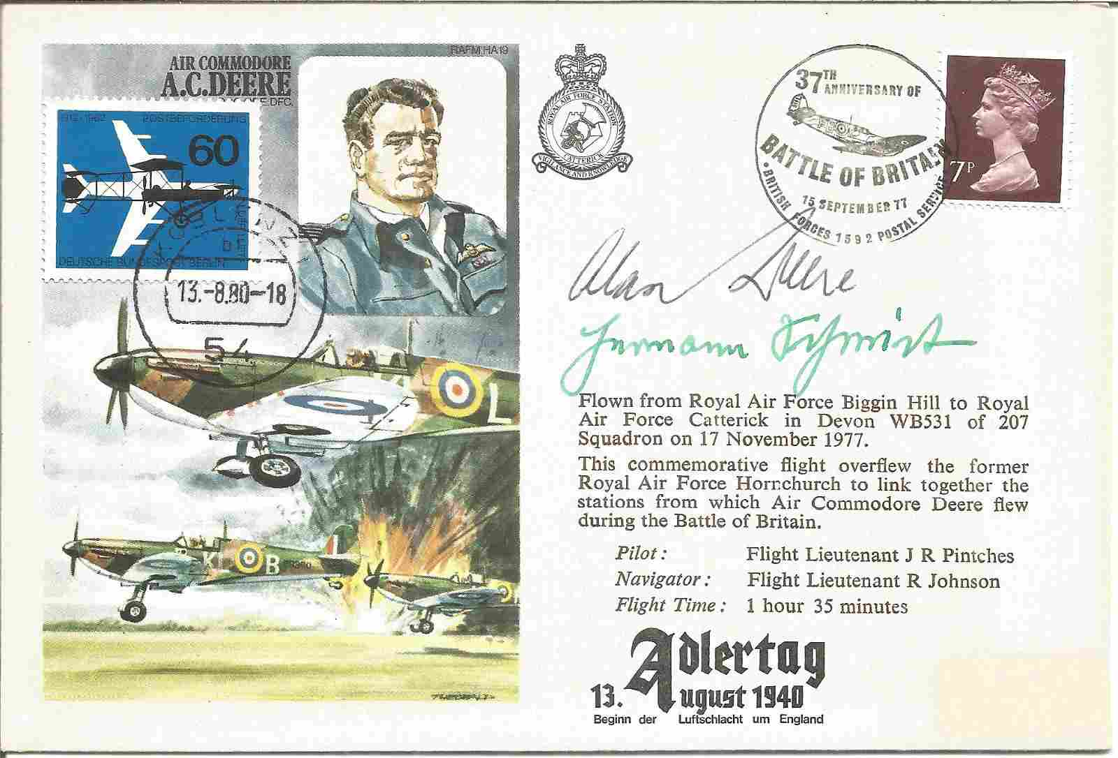 WW2 Fighter aces Alan Deere DSO DFC, Mjr Hermann