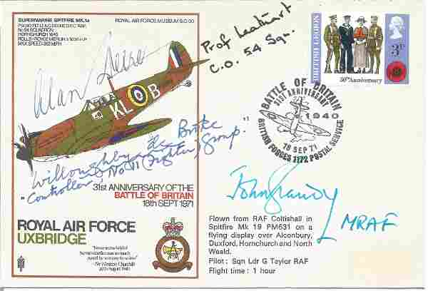 WW2 Fighter aces multiple signed Battle of Britain