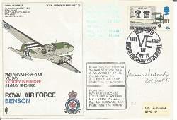 WW2 resistance Col Maurice Buckmaster SOE signed RAF