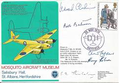 WW2 bomber aces multiple signed Mosquito Aircraft