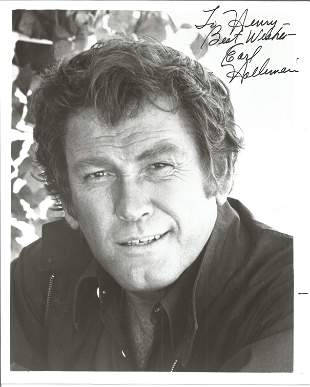 Earl Holliman Signed 10x8 Black And White Photo.