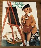 Shirley Temple Black Signed 10x8 Colour Photo.