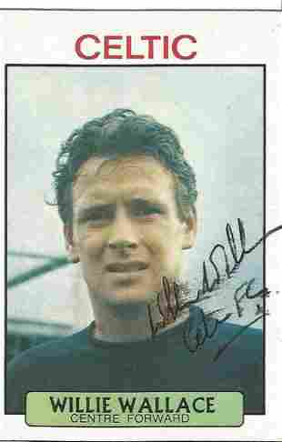 Willie Wallace (1942 2014) Signed Vintage Celtic Trade
